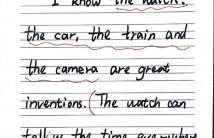 儿子的专业八级英语老师手写的英语小练笔
